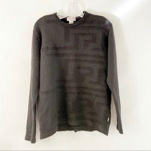 Versace Classic Black Pure Merino Wool Sweater